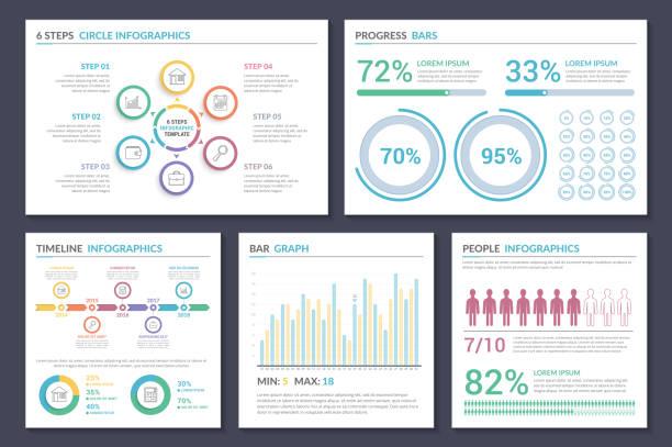 インフォグラフィックのテンプレート - 人口統計のインフォグラフィック点のイラスト素材/クリップアート素材/マンガ素材/アイコン素材