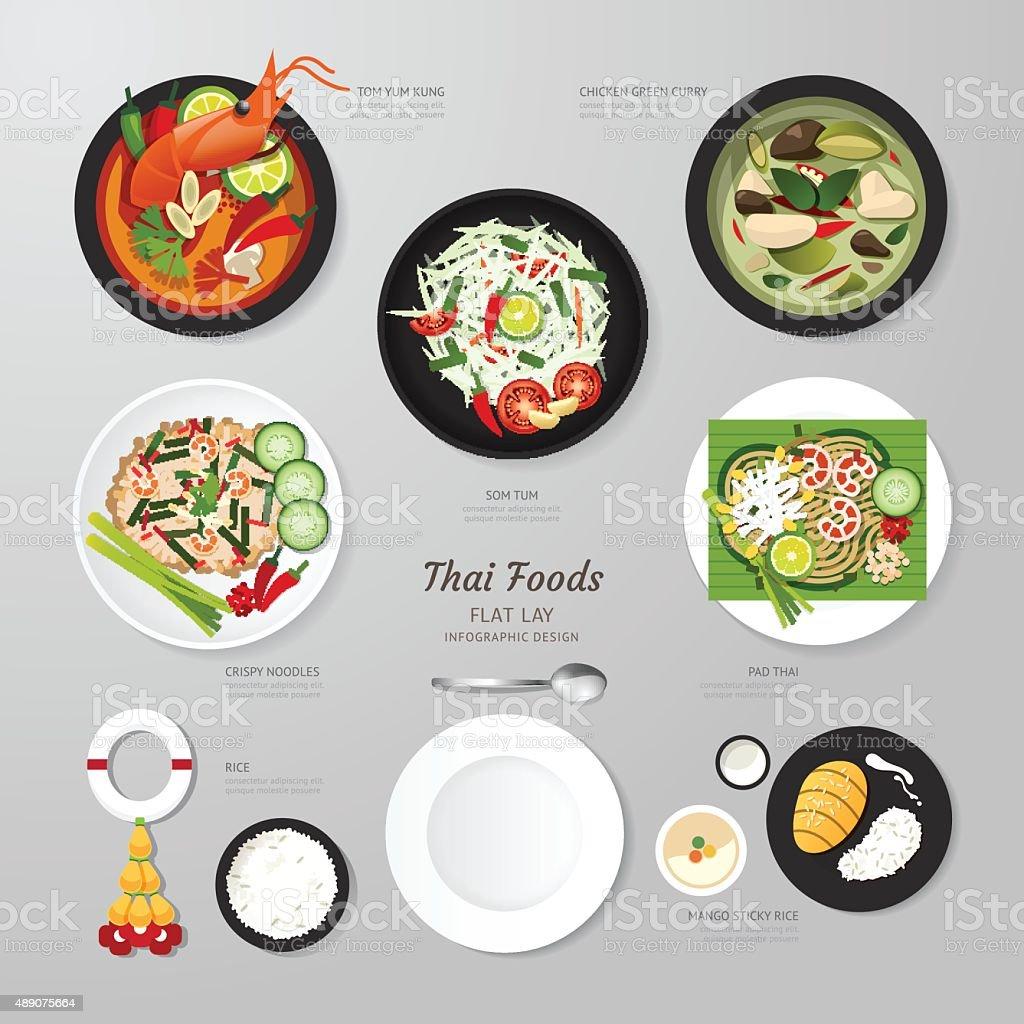 Thailändische Lebensmittel Infografik Business Flache Lay Idee  Vektorillustrati Stock Vektor Art und mehr Bilder von 8