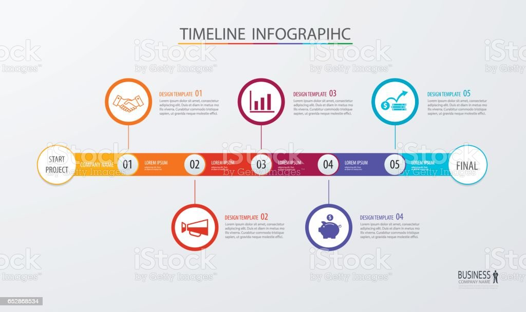 Infographic Timeline Template Business Conceptvector Can Be Used For ...