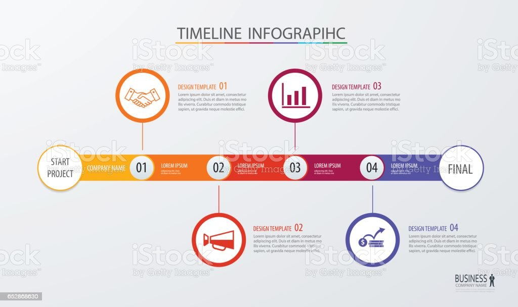 Infographic Timeline Template Business Conceptvector Can Be Used For