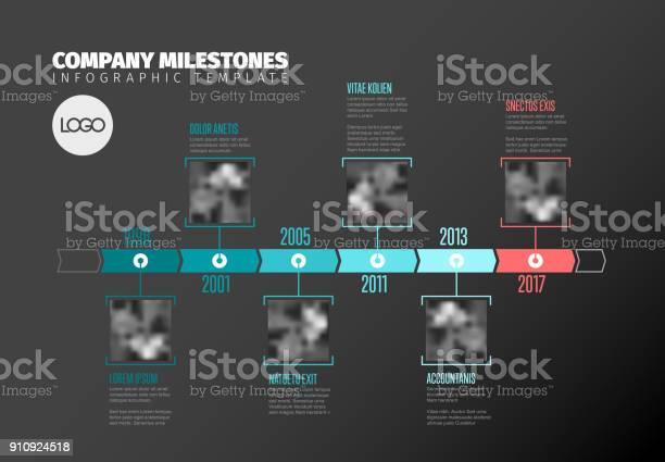 Vetores de Modelo De Timeline Infográfico Com Fotos e mais imagens de Acionista