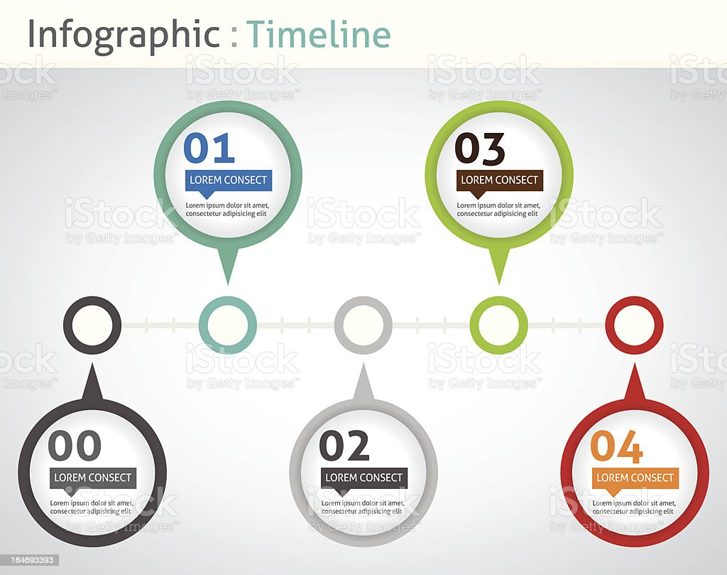 Infographic Timeline Stock Vector Art & More Images of ...