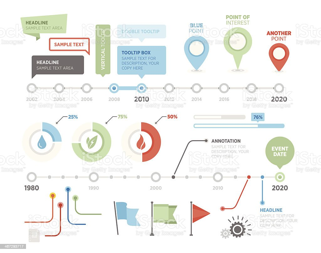 Infographic Timeline Vector Illustration Stock Vector Art ...