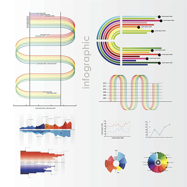 Infographic vector graphs and elements. Infographic vector graphs and elements. Vector illustration. commercial event stock illustrations