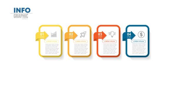 illustrations, cliparts, dessins animés et icônes de infographie - infographie processus