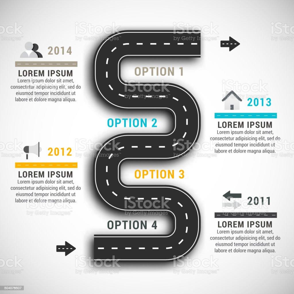 Infographic vector art illustration