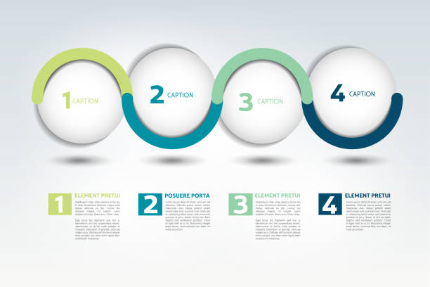 infographic vector option banner with 4 steps. - wielokrotny obraz stock illustrations
