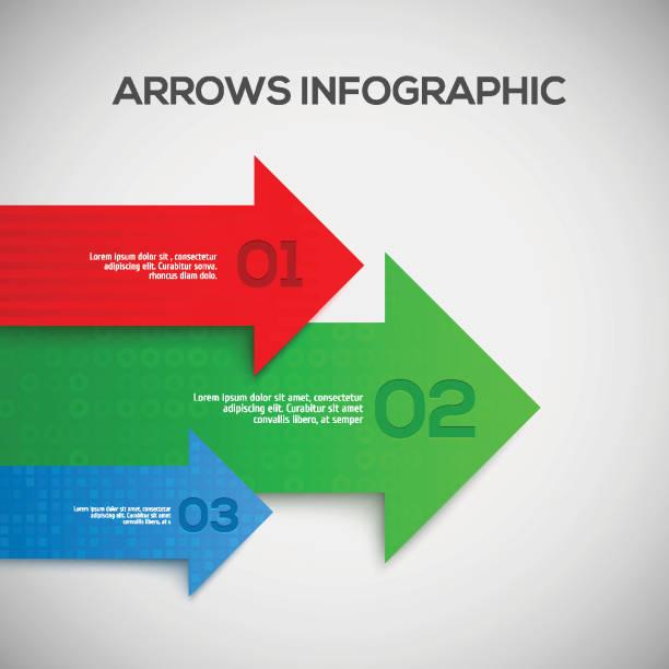 infografika z strzałki 3d. wektor. - sekwencja obrazu stock illustrations