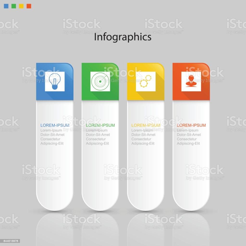 Infographics Elements Step Or Process Presentation Timeline - Process timeline template