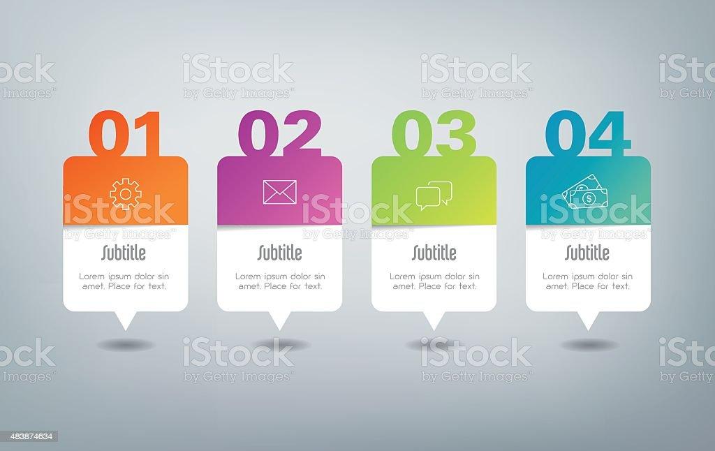 Infographics - 4 steps vector art illustration