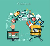 infographics background E-commerce. Business concept. Set icons