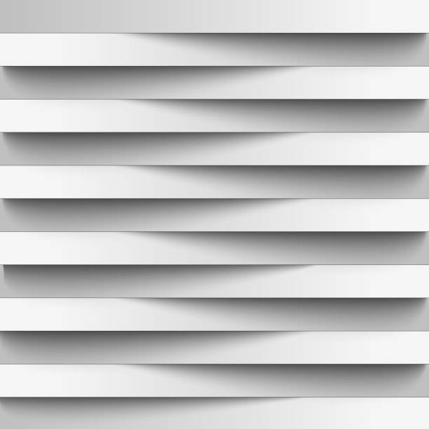 infographics. background, wallpaper for web design from realistic paper stripes shading. light lines. white color in combination with gray. overlapping strips of each other. creative - жалюзийный тип stock illustrations