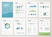 Infographics brochure elements for business data visualization. Vector illustration of modern info graphic metaphor in a flyer concept, that can be used for marketing, websites, print, presentation etc