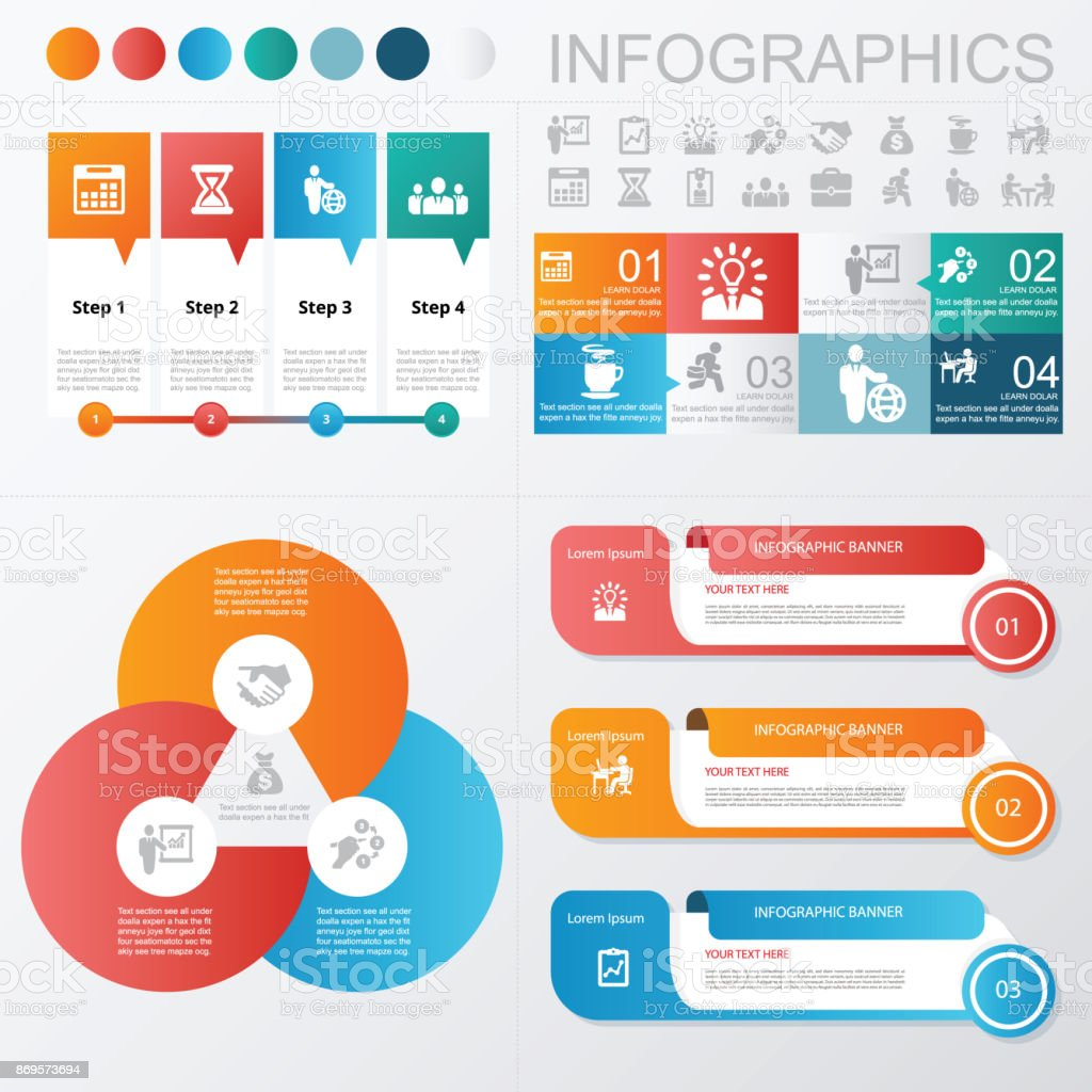 Infographics Business and Banner Icons