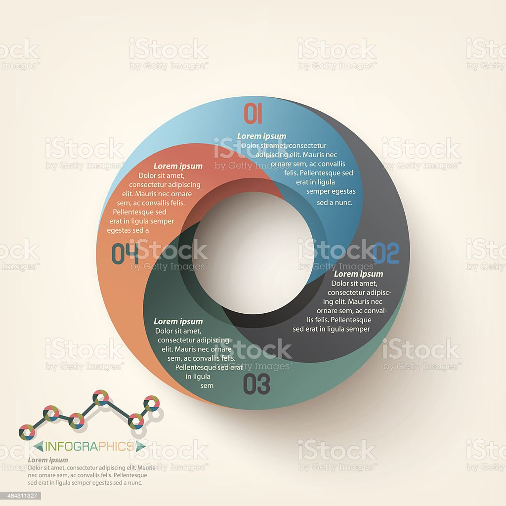 Infographics Business circle template royalty-free stock vector art