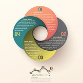 Infographics Business circle template