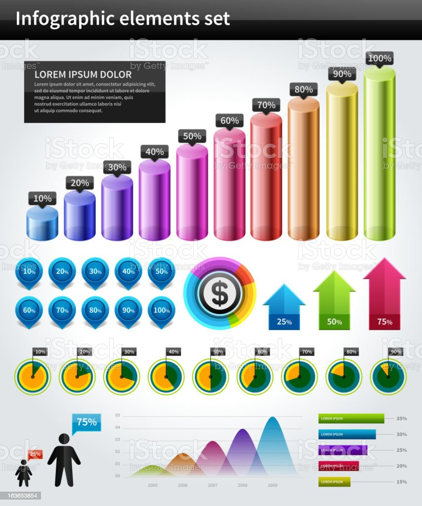 Infographics collection vector royalty-free stock vector art