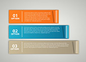 Infographics design elements showing three options