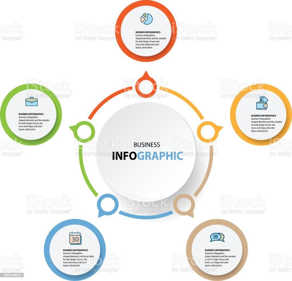 Infographics design marketing icons for Business infographics design marketing icons for business - arte vetorial de stock e mais imagens de abstrato royalty-free