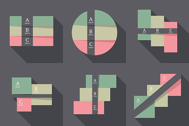 illustrations, cliparts, dessins animés et icônes de infographie conception modèle.   concept d'affaires avec 3 options. - infographie processus