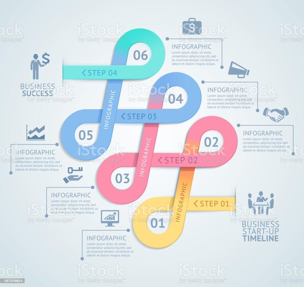 Infografiken design-Vorlage. – Vektorgrafik