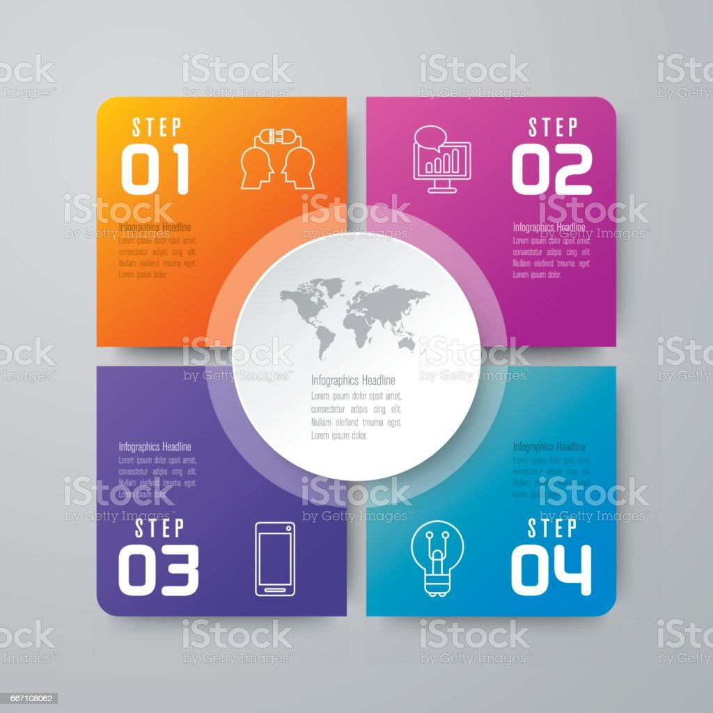Infographics design vector and business icons. vector art illustration