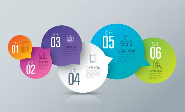 Infographics design vector and business icons. Vector illustration was made in eps 10 with gradients and transparency. Can be used for workflow layout, diagram, number options, web design. cycle vehicle stock illustrations