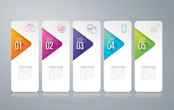 ilustraciones, imágenes clip art, dibujos animados e iconos de stock de iconos de vector y negocios de diseño de infografías. - infografías para diagramas de flujo