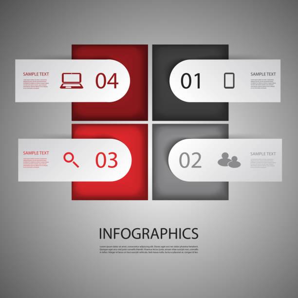 Diseño de infografías - ilustración de arte vectorial