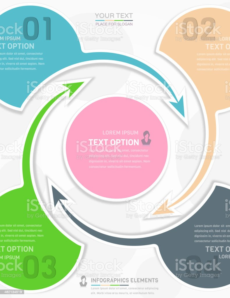 Infographics design. vector art illustration