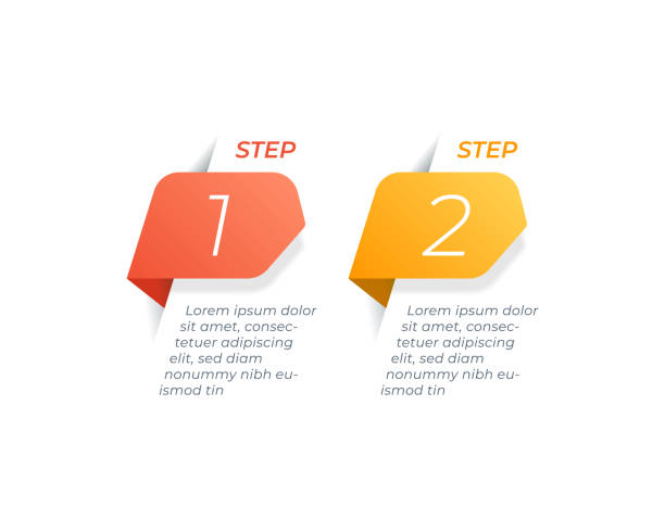 infographics design vector with 2 options - dwa przedmioty stock illustrations