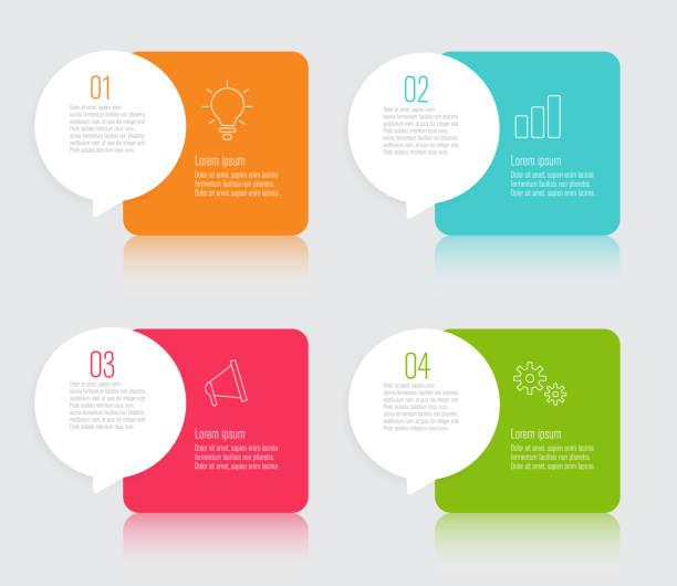 infographics design with speech bubble flat vector illustration vector art illustration