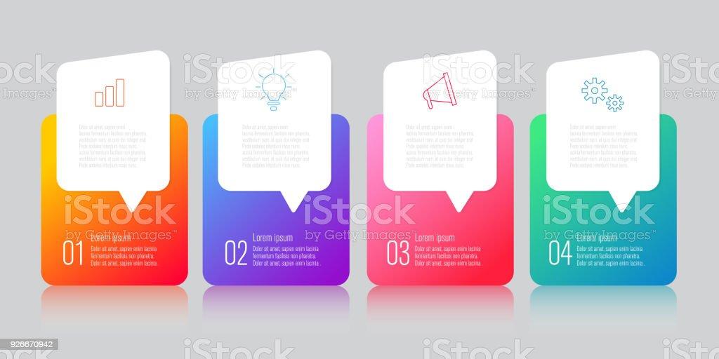 infographics design with speech bubble – artystyczna grafika wektorowa