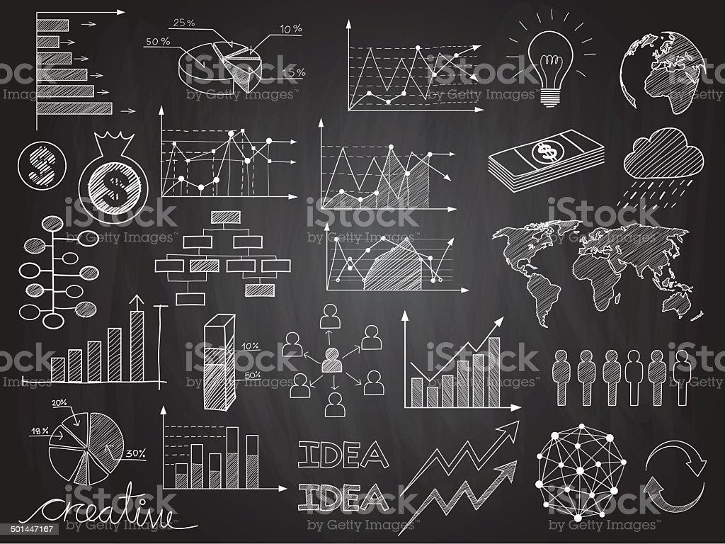 infographics doodles vector art illustration