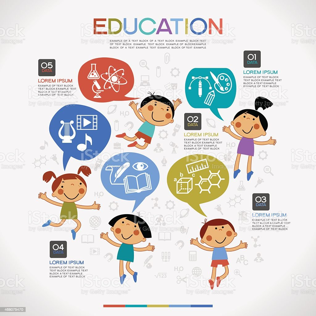 Infographics education background. vector art illustration