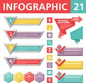Set of elements for the development of creative infographics.