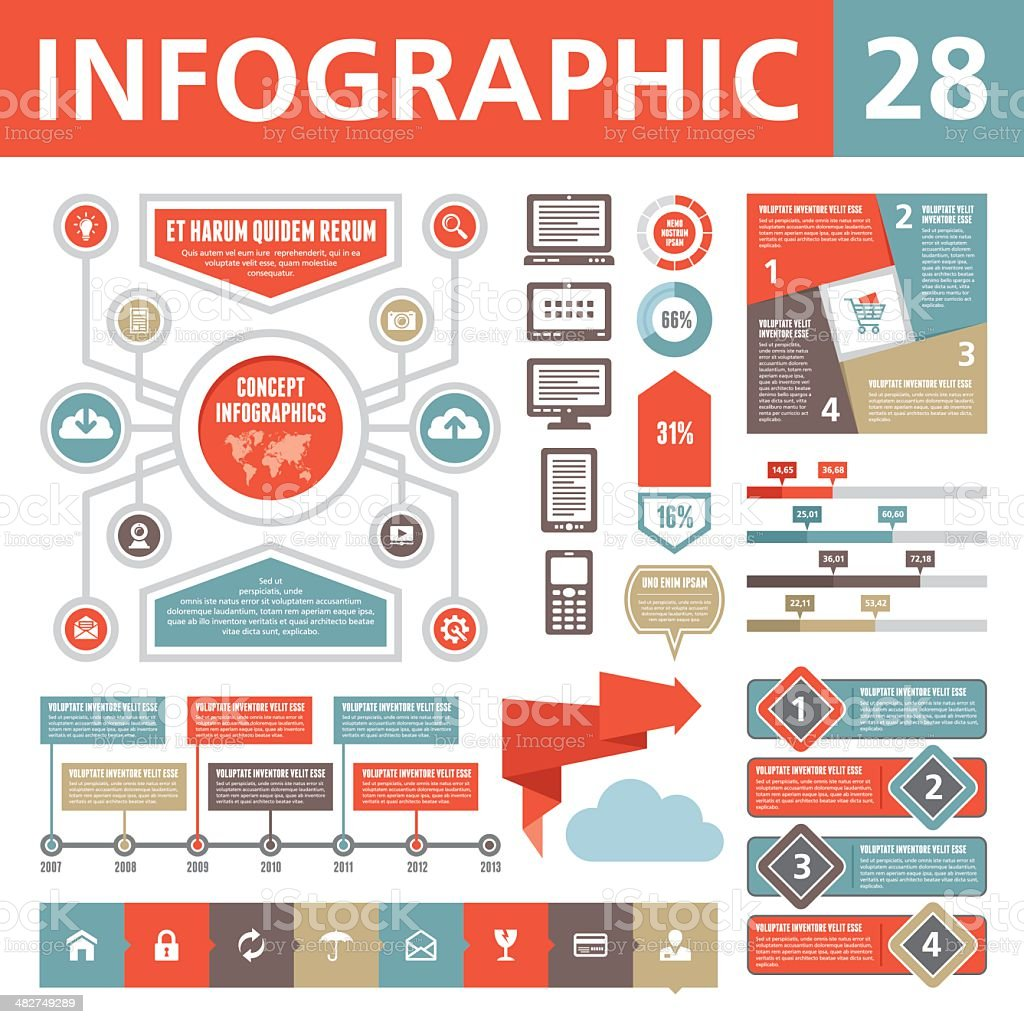 Infographics Elements 28 royalty-free stock vector art