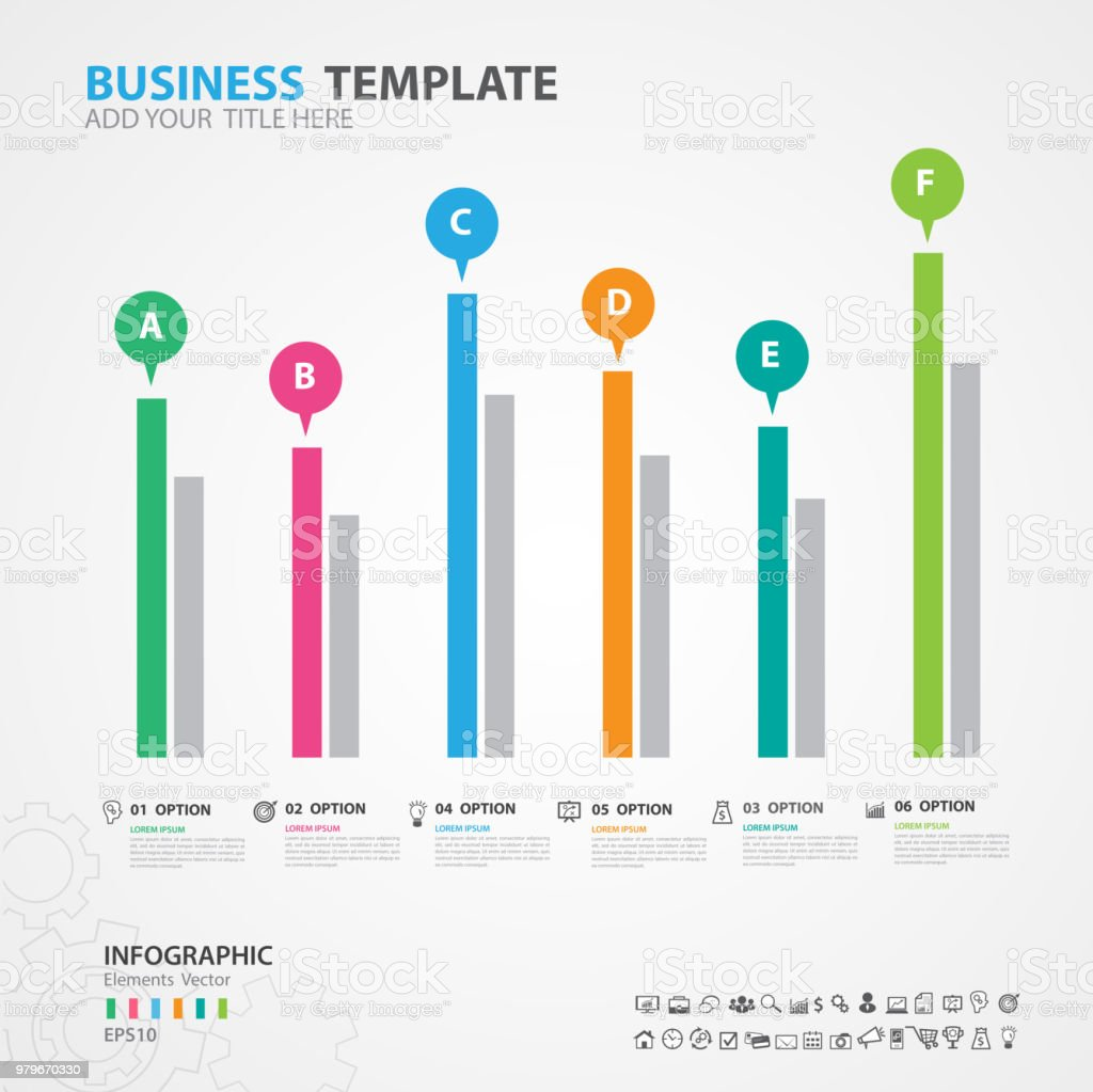 Infographics elements diagram with 6 steps options vector infographics elements diagram with 6 steps options vector illustration rectangular 3d icon ccuart Choice Image