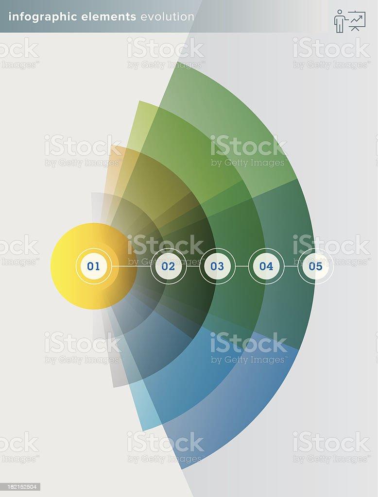 Infographie éléments évolution series-Illustration - Illustration vectorielle
