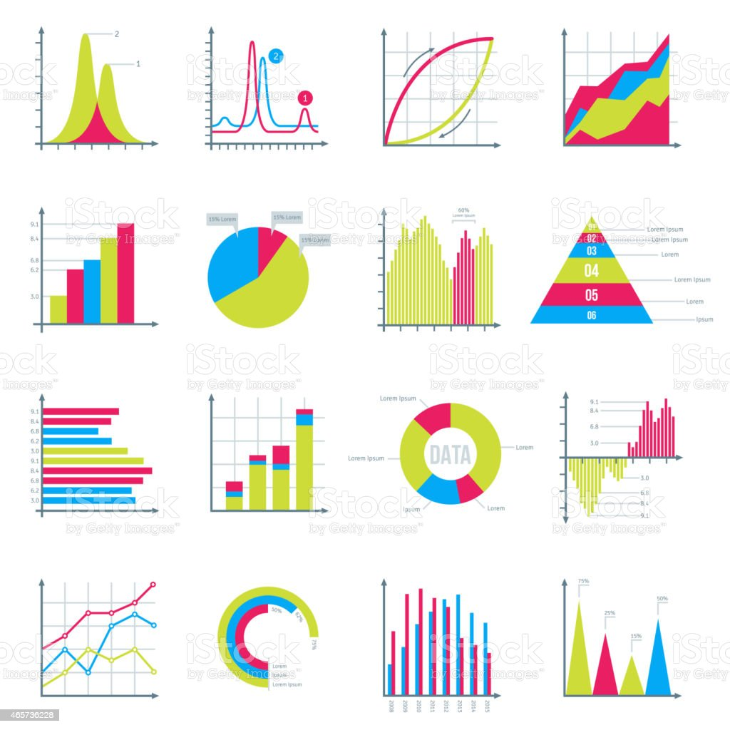 Infographics Elements in Modern Flat Business Style. vector art illustration