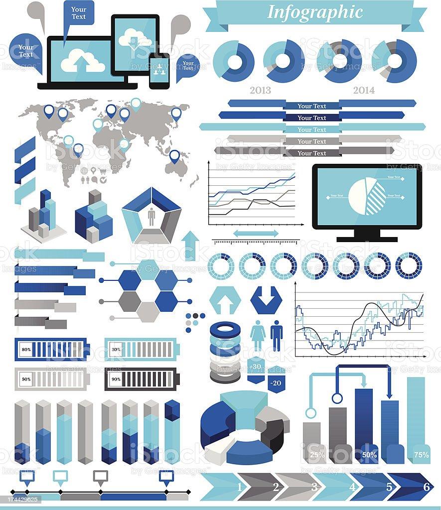 Éléments de l'infographie - Illustration vectorielle