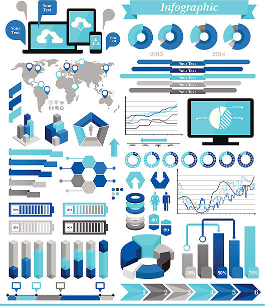 illustrations, cliparts, dessins animés et icônes de éléments de l'infographie - infographie de démographie