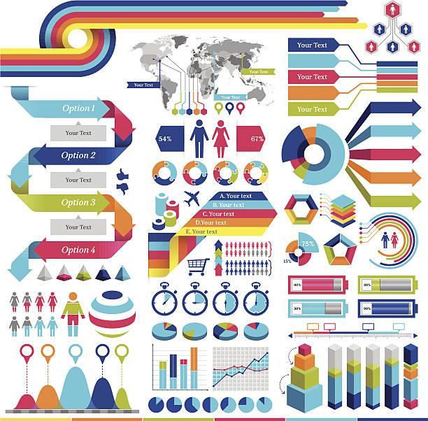 Infographics Elements vector art illustration