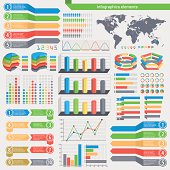Vector infographics elements. Each element is grouped in a separate layers. Easy to edit.