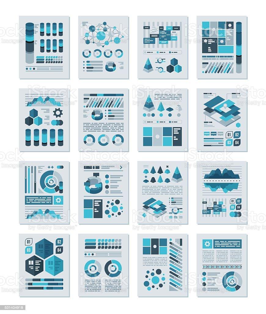 Infographics Flat Design Set royalty-free stock vector art
