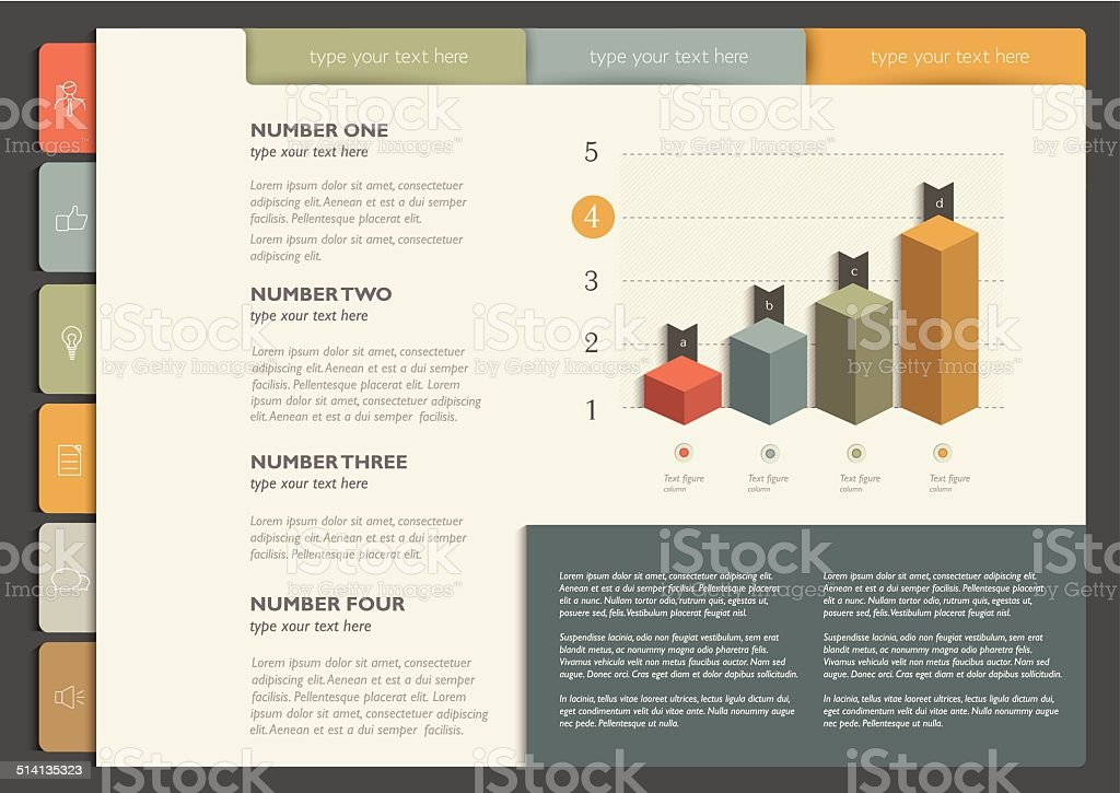 Infographics folder collection. vector art illustration