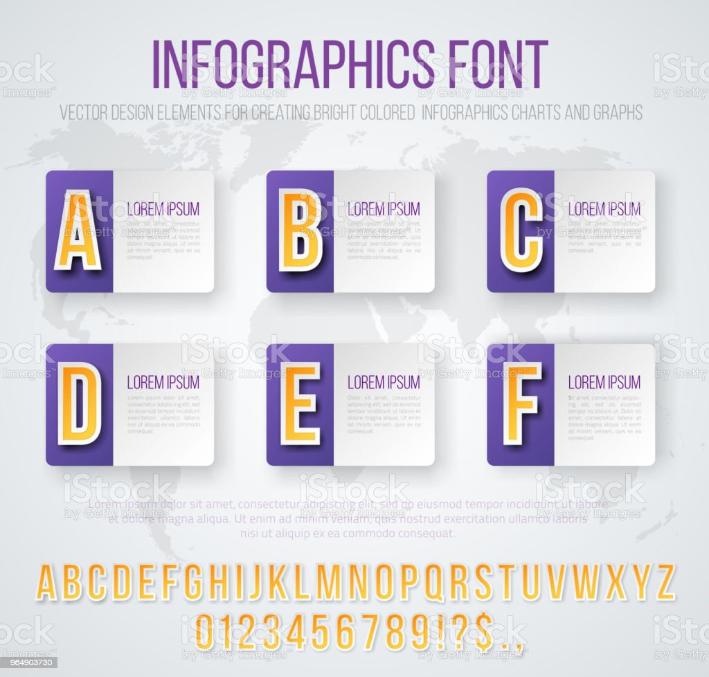 Infographics font set royalty-free infographics font set stock vector art & more images of abstract