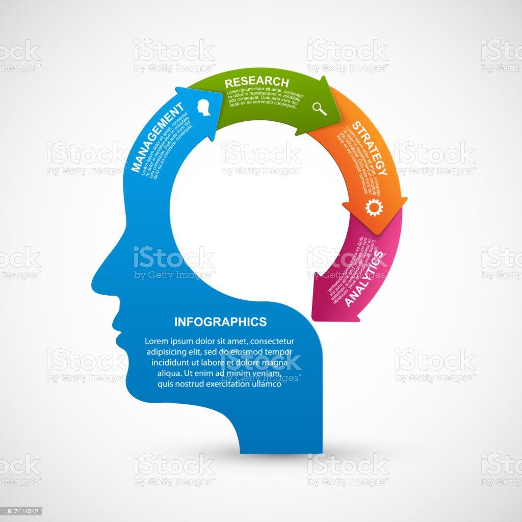Infographics for business presentations or information banner. vector art illustration
