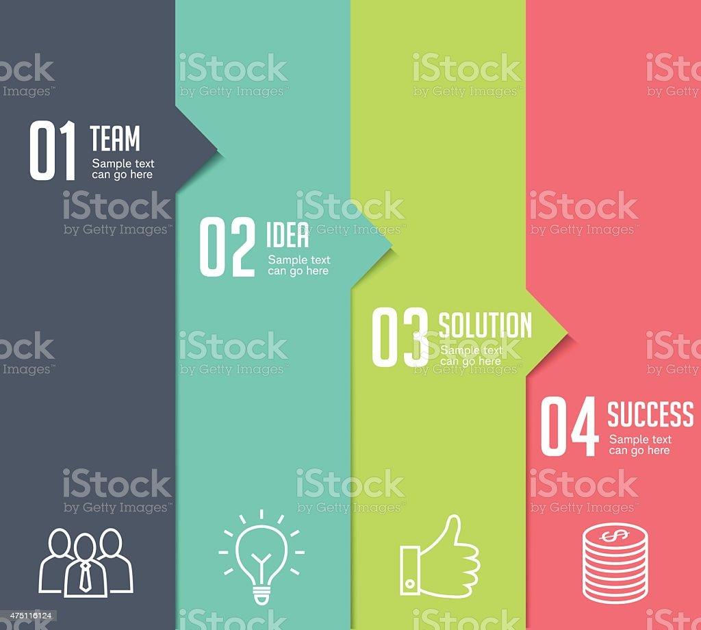Infografiki-cztery kroki - Grafika wektorowa royalty-free (2015)