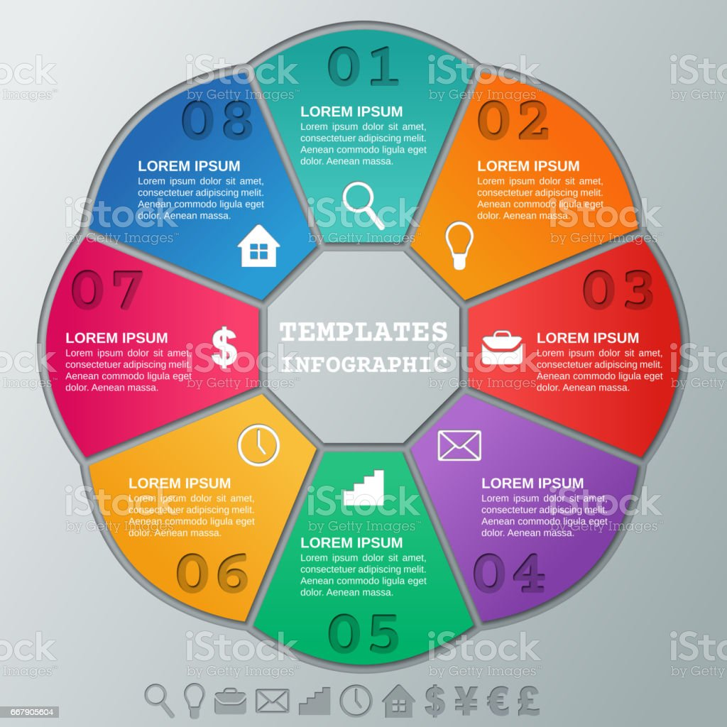 Infographics Frames Vector Infographic Circular Templates 8